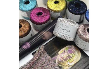 An overview of the new sequins Diamante Payette and Elegance combined with summer yarns