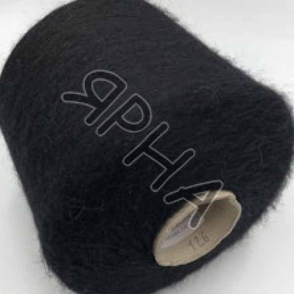 Пряжа на конусах Кид силк Hasegawa НASEGAWA #    126 [черный]