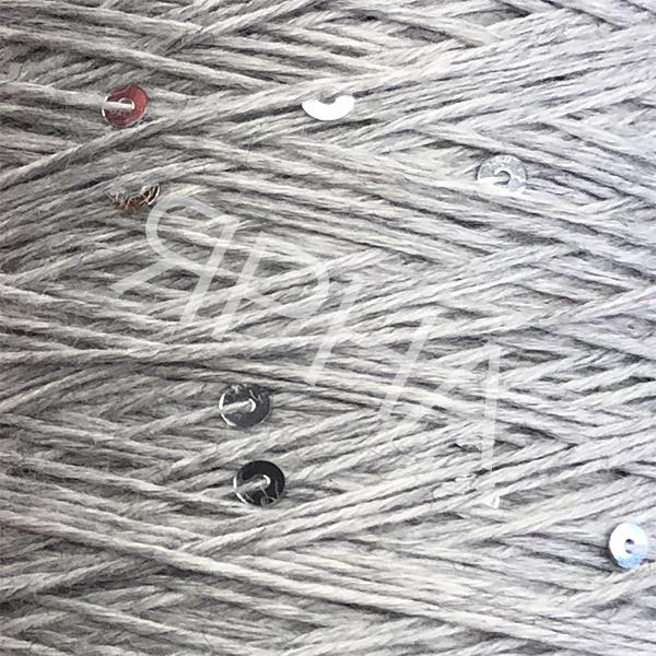 Yarn on cones Меринос + пайетки Lana Gatto #    402 [нежн серый]