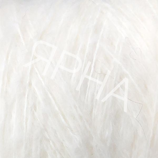 Пряжа на конусах Кид 80% Stonewashed LINEA PIU #    600 [снег]