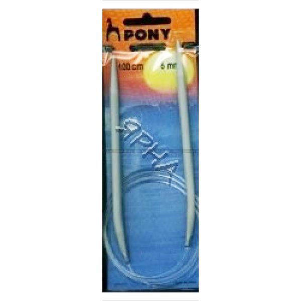 Спицы кр.ал.100/5,5мм Pony #  52612 []