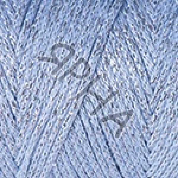 Пряжа в мотках Макраме коттон люрекс YarnArt (РАМ) #    729 [голубой]