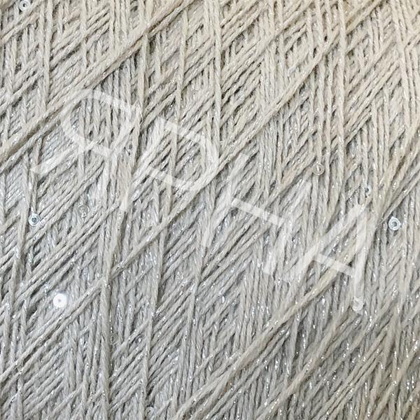 Пряжа на конусах Кашемир с пайетками на люрексе Brunello Cucinelli #    379 [бежево-серый]