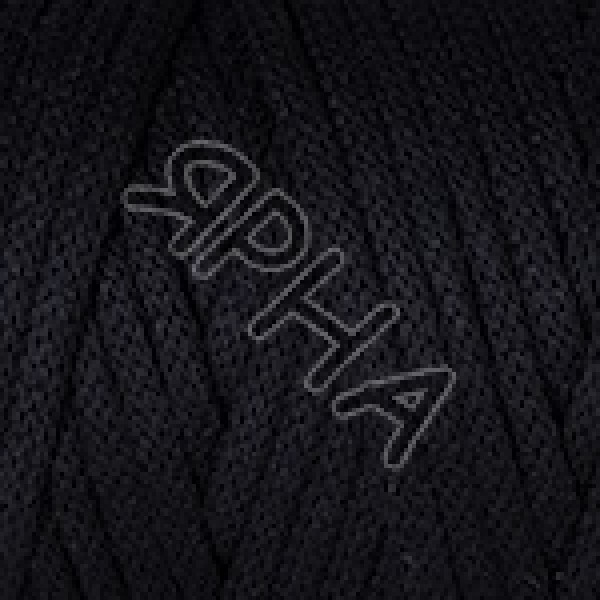 Пряжа Макраме корд 5 мм YarnArt (РАМ) #    750 [черный]