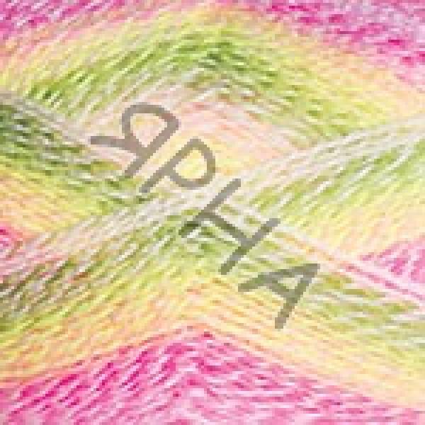 Эверест Дайлайт 6036 роз-салат-белый YarnArt (РАМ)