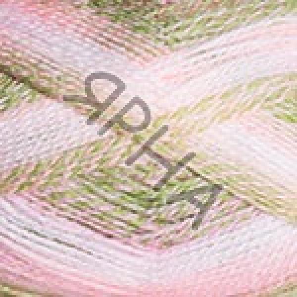 Пряжа в мотках Эверест Дайлайт YarnArt (РАМ) #   6044 [роз-зелен-белый]