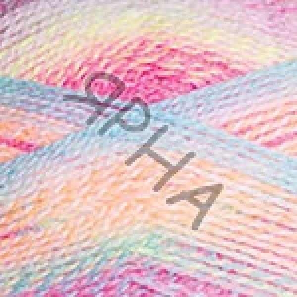 Пряжа в мотках Эверест Дайлайт YarnArt (РАМ) #   6045 [гол-малин-желт]