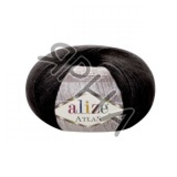 Пряжа в мотках Атлас Alize (Ализе) #     60 [черный]