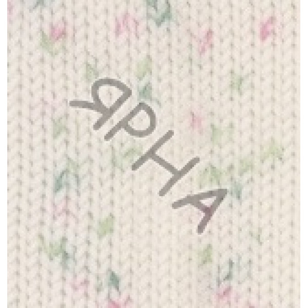 Пряжа Беби бест миниколор Alize (Ализе) #   6932 [белый+зелень+розов]