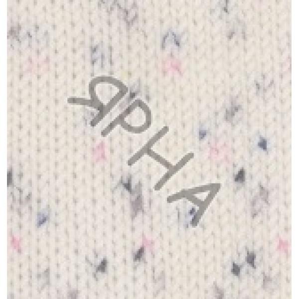 Пряжа Беби бест миниколор Alize (Ализе) #   6970 [белый+фиолет+розов]