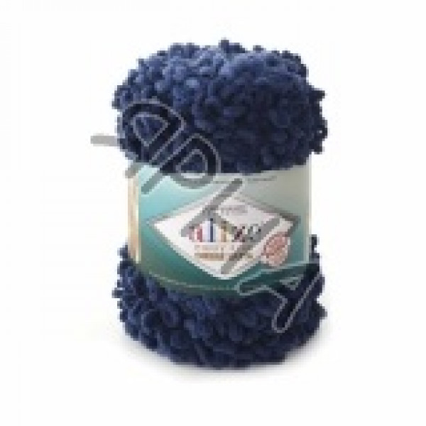Пряжа в мотках Пуффи файн омбре батик Alize (Ализе) #   7266 [т.синий]