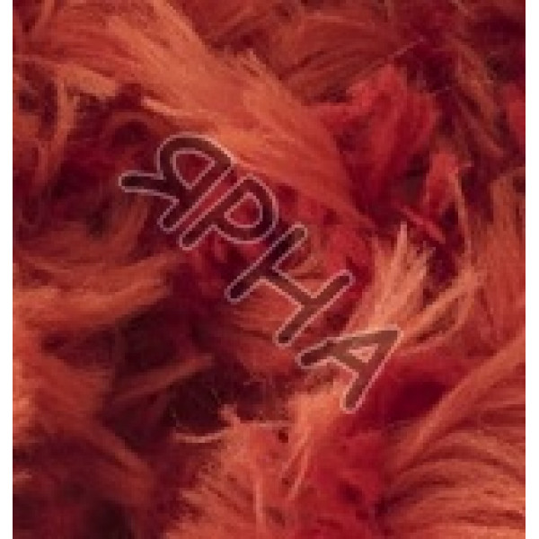 Пряжа Пуффи фур Alize (Ализе) #   6118 [рыжий]