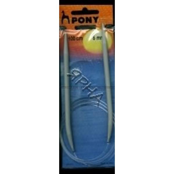 PONY круговые Спицы кр.ал.100/5,0мм Pony # 52611 []