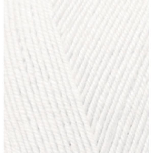 Пряжа в мотках Мерино стрейч Alize (Ализе) #     55 [белый]