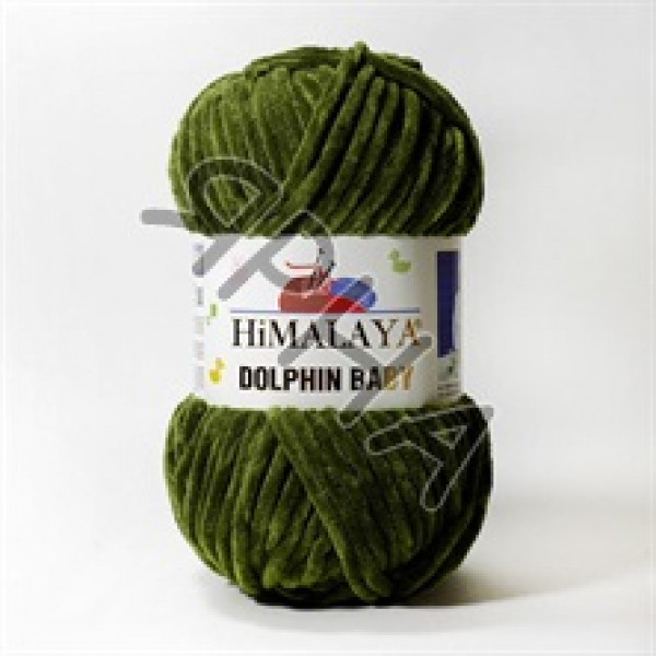 Пряжа Долфин беби Himalaya #  80361 [хаки]
