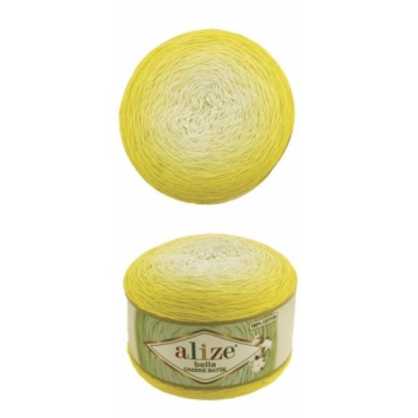 Белла омбре батик 7414 желт неон Alize (Ализе)