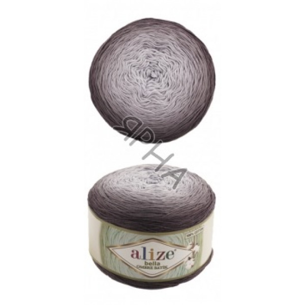 Белла омбре батик 7411 грифель Alize (Ализе)