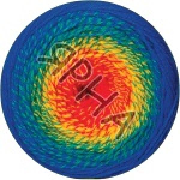 Фловерс мерино 535 сине-оранж YarnArt (РАМ)