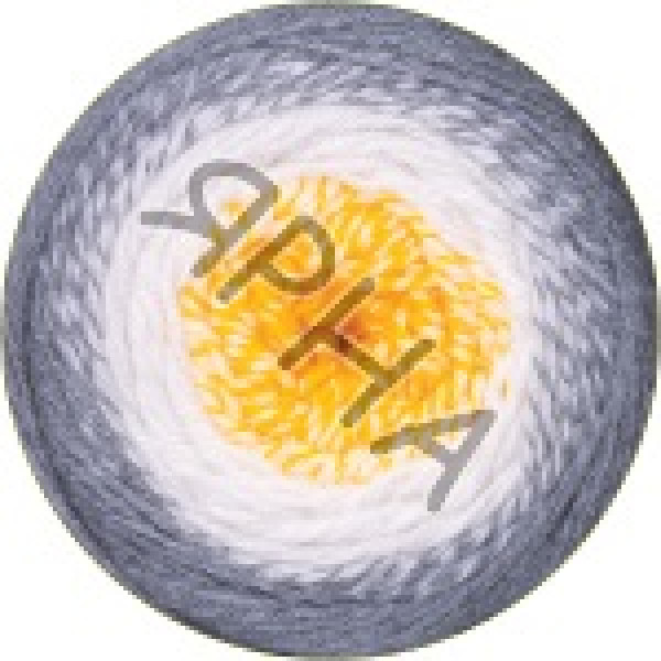Фловерс мерино 536 серо-бело-желтый YarnArt (РАМ)