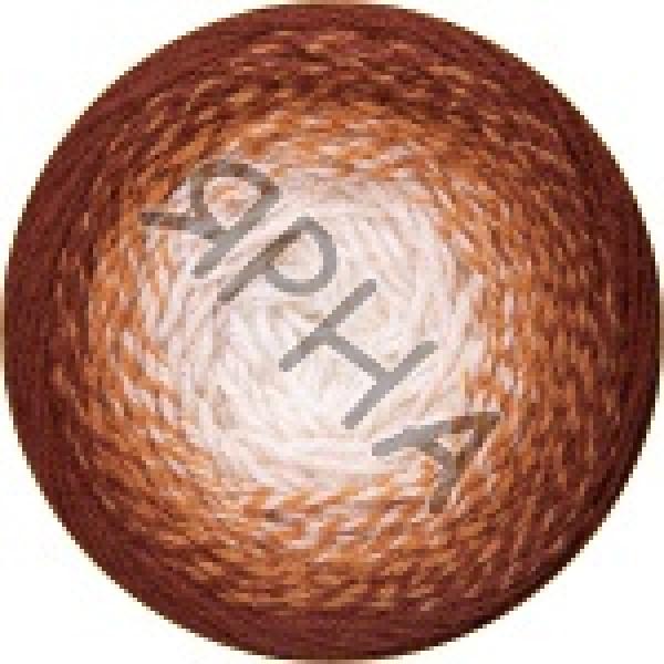 Фловерс мерино 537 коричнево-белый YarnArt (РАМ)