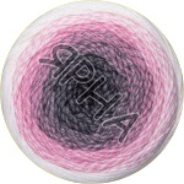 Фловерс мерино 546 бело-розовый YarnArt (РАМ)