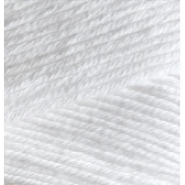 Пряжа в мотках Белла 100 Alize (Ализе) #     55 [белый]