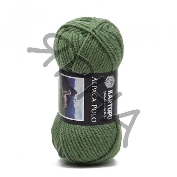 Пряжа Альпака поло Картопу #    430 [зелень]