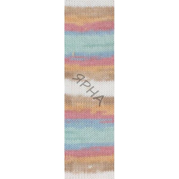 Yarn Baby wool batik Alize (Ализе) #   4796 []