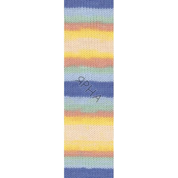 Yarn Baby wool batik Alize (Ализе) #   6539 []
