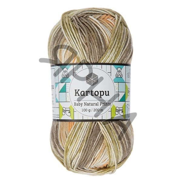Yarn Baby natural prints Картопу #   1802 []