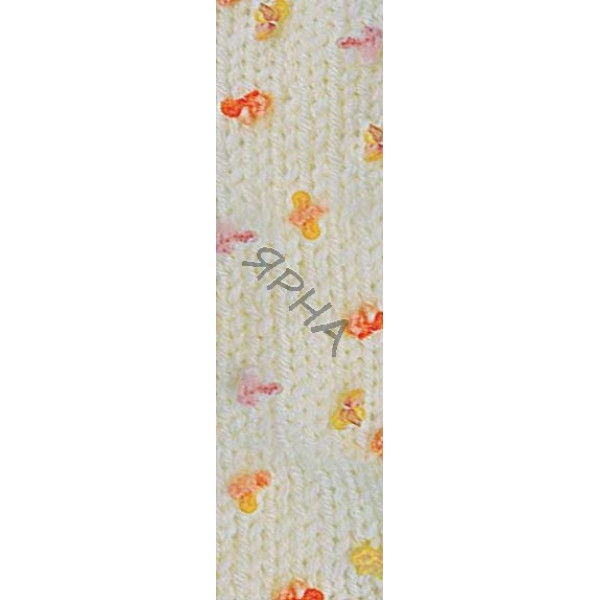 Yarn Baby flower Alize (Ализе) #   5389 [молоко+перс+желтый]