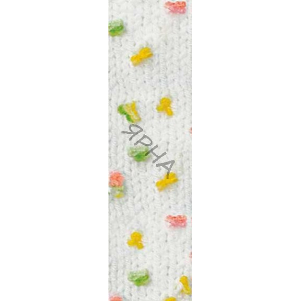 Yarn Baby flower Alize (Ализе) #   5408 [белый]