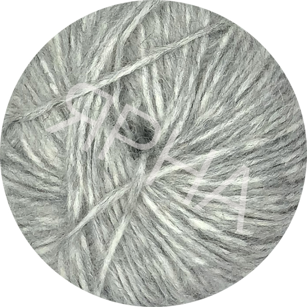 Yarn Alpaca real Ярна #   4400 [св.серый креат]