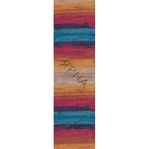 Yarn Burcum batik Alize (Ализе) #   4340 [меланж-батик]