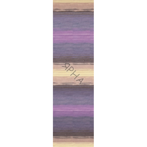 Yarn Burcum batik Alize (Ализе) #   6954 [меланж-батик]