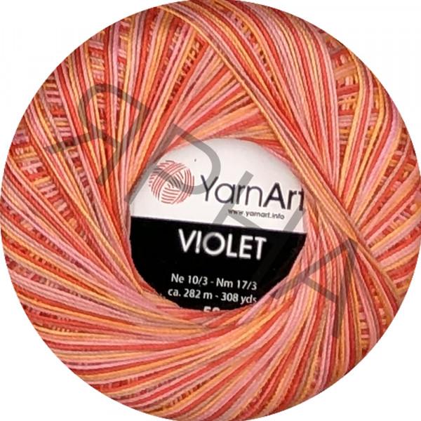 Пряжа в мотках Виолета меланжевая YarnArt (РАМ) #    507 [оранж-роз-кор-беж]