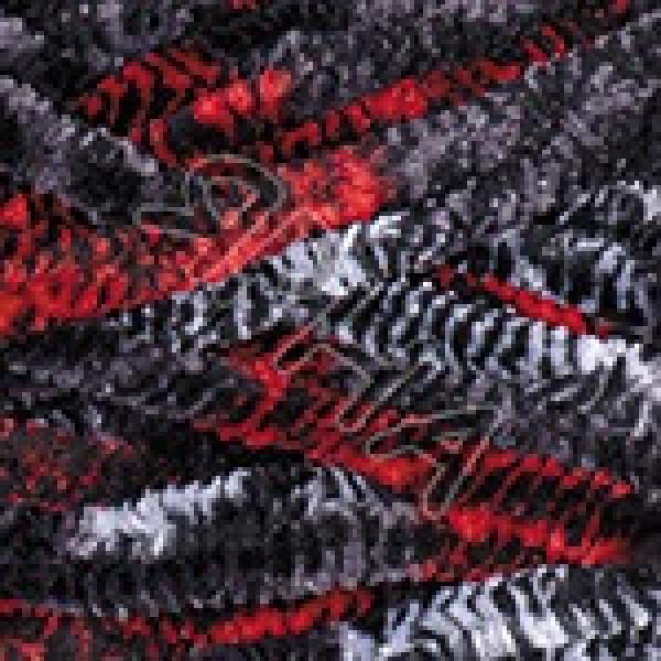 Дольче 806 черно-красный мелж YarnArt (РАМ)