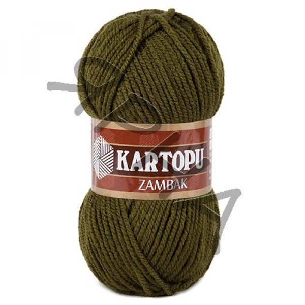 Пряжа Замбак Картопу #    410 [хаки]