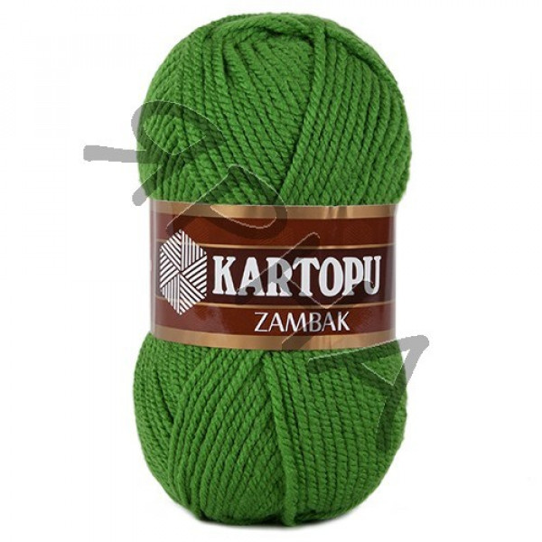 Пряжа Замбак Картопу #    392 [зелень]