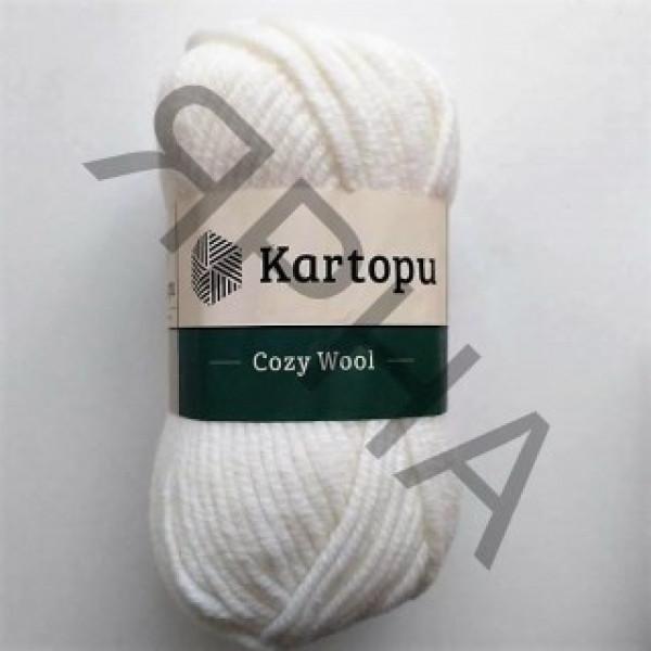 Yarn Cozy wool Картопу #     10 [белый]