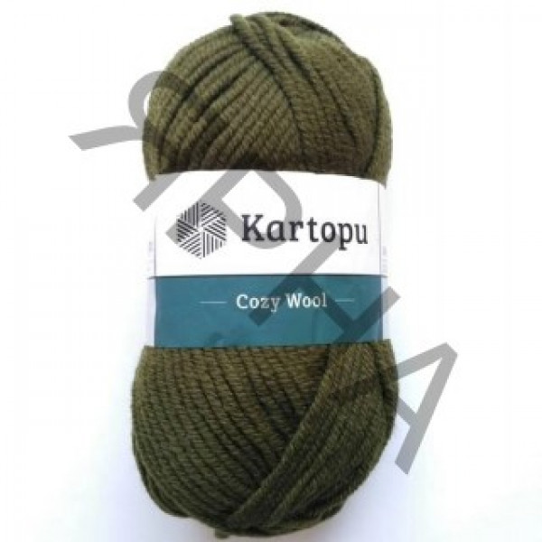 Yarn Cozy wool Картопу #    410 [зелень]