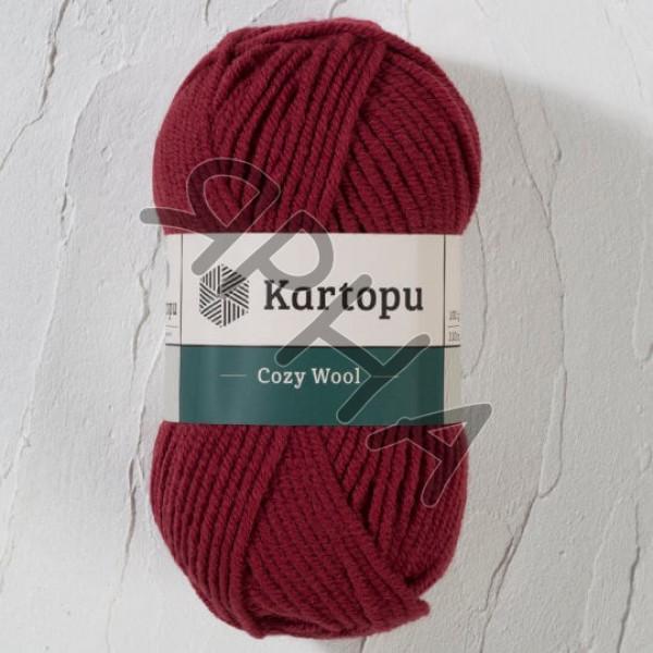Yarn Cozy wool Картопу #   1105 [вишня]
