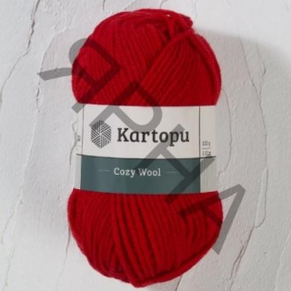 Yarn Cozy wool Картопу #    150 [красный]