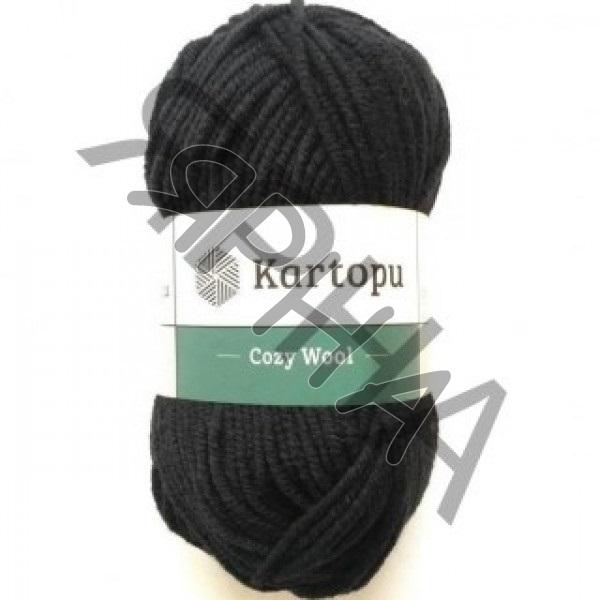 Yarn Cozy wool Картопу #    940 [черный]