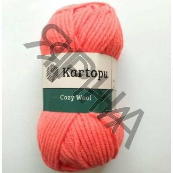 Yarn Cozy wool Картопу #   1212 [коралл ]