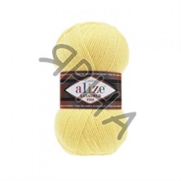 Пряжа в мотках Лана голд файн Alize (Ализе) #    187 [св.лимон]