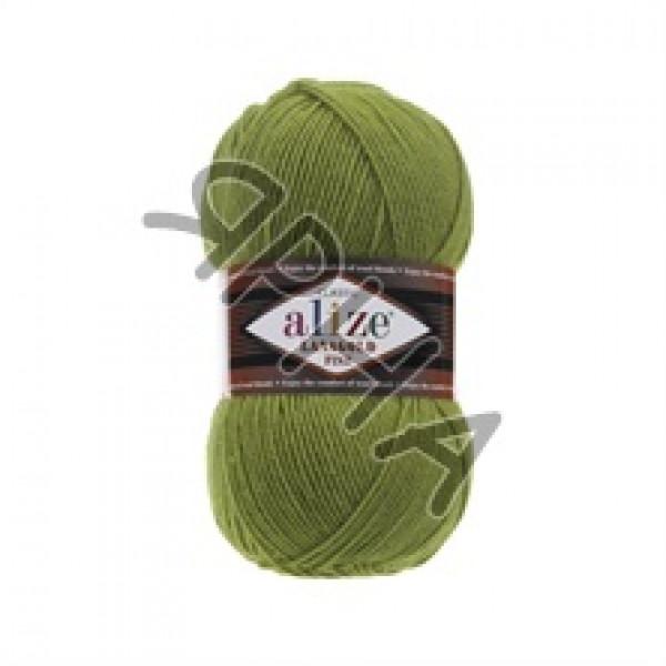 Пряжа в мотках Лана голд файн Alize (Ализе) #    485 [зеленая черепаха]