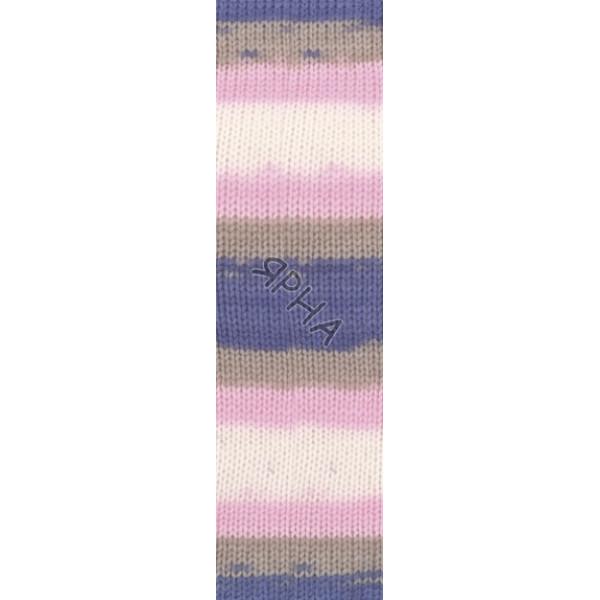 Yarn Sekerim batik Alize (Ализе) #   6619 [батик]
