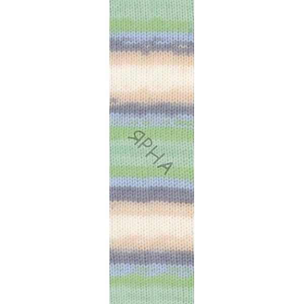 Yarn Sekerim batik Alize (Ализе) #   6538 [батик]