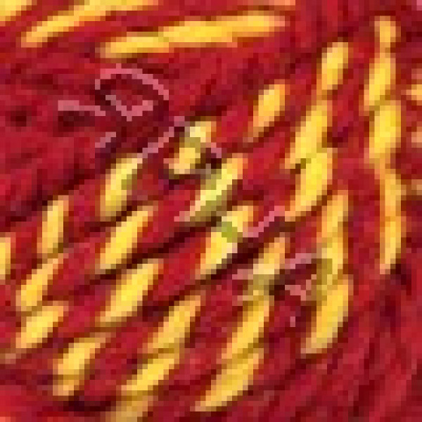 Yarn Spaghetti fanatic Nako #  20249 [алый+желток]